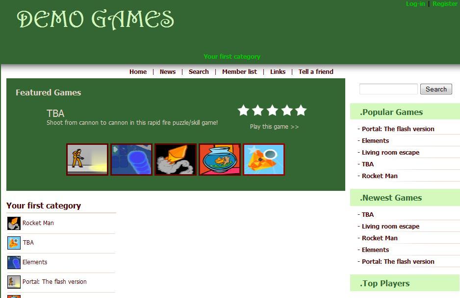 Green AV Arcade Template